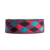 Harlequin pattern in red, magenta, blue - by 1/2 yd