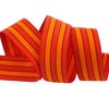 Vintage stripe grosgrain Red/orange - by 1/2 yd