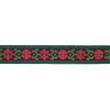 "Red Bavarian flower - 7/8"" - by the yard"