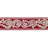 "Red scroll - 1-1/4"" - by the yard"