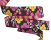"Tiny Pink Floral on Black-- Jessica Jones - 3/8"" -by the yard"