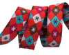 "Argyle and Stars on Red-Mini - Jessica Jones - 3/8"" -by the yard"