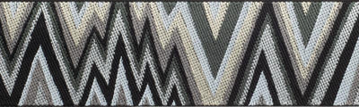 "Flame Stitch Black White Gray by Kaffe Fassett - 1-1/2"" - by the yard"