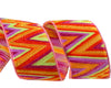 "Flame Stitch orange pink lime ribbon - 7/8"" -by the yard"