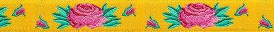 "Spanish Rose on Yellow - Kaffe Fassett - 5/8"" -by the yard"