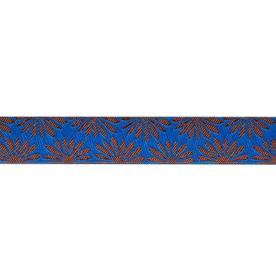 "Gerbera Blue on Bronze - 7/8"" - Kaffe Fassett - by the yard"