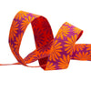 "Gerbera Orange on Wine - 7/8"" - Kaffe Fassett - by the yard"