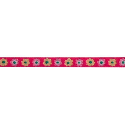 "Narrow Pink Flowers row - 3/8"" - Kaffe Fassett - by the yard"