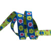 "Narrow Blue Flowers row - 3/8"" - Kaffe Fassett - by the yard"