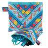 Kit Chevron POUCH Red bird on Blue Sky