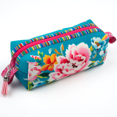 Kit Zipper Pouch Velvet Shanghai on Blue