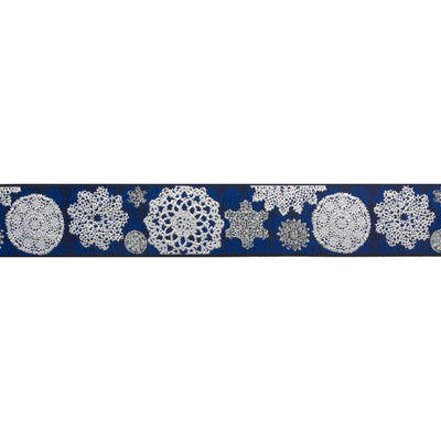 Lace doilies on navy by LFNT - 1 1/2""