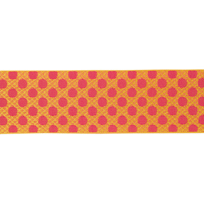 "Orange dots on dots - LFNT - 1-1/2""- by the yard"
