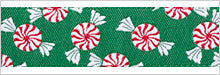 "Peppermint Candies Ribbon by LFN Textiles - 7/8"" -by the yard"