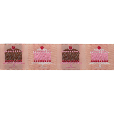 "Tiny cakes blush - LFNT - 1"" - by the yard"