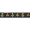 "Christmas Trees on Black by LFN Textiles - 7/8"" - by the yard"