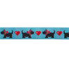 "Scotties/hearts -Mary Engelbreit - 7/8"" - by the yard"
