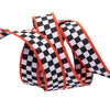 "Checkerboard /red edges-Mary Engelbreit -5/8""_ by the yd"
