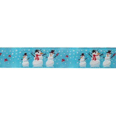 "Snowman 7/8""- by the yard"