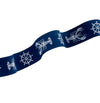 "White & Navy Lobster - 7/8"" -by the yard"
