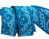 "Bandana on Blue- by Raphael Kerley - 7/8"" -by the yard"