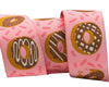 "Donuts on Pink  - 7/8"" -by the yard"