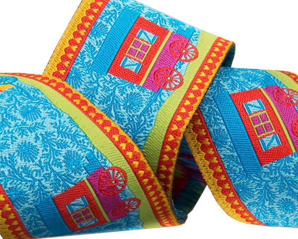 "Blue Gypsy Roulotte - 1-1/2""- by the yard"