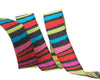 "Dark Fanciful stripes   - 3/8"" -by the yard"
