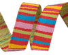"Red Fanciful stripes   - 3/8"" -by the yard"