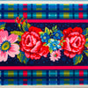 "5"" wide Plaid and Floral on Indigo"