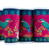 Exotic KingFisher Bird- Printed Velvet Border
