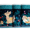Forest Animals/ Midnight Blue- Printed Velvet Border