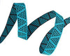 "Turquoise Mini Pyramids ribbon - 3/8"" -by the yard"