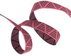 "Raspberry Mini Pyramids ribbon - 3/8"" -by the yard"