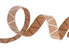 "Camel Mini Pyramids ribbon - 3/8"" -by the yard"