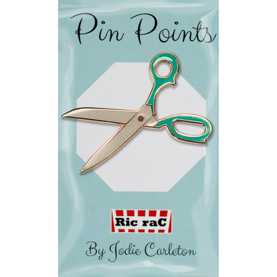 Pin Enamel-Scissors green