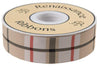 "Tan Woven Plaid - 1-1/2""- by the yard"