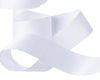"White French Silky Grosgrain - 7/8"" -by the yard"