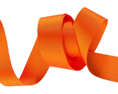 "Orange French Silky Grosgrain - 7/8"" -by the yard"