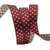 Burgundy/Cream Reversible Dots - 3/8""