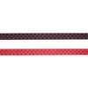 Black/Red Reversible Dots - 3/8""