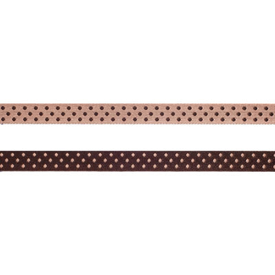 Brown/Pink Reversible Dots - 3/8""
