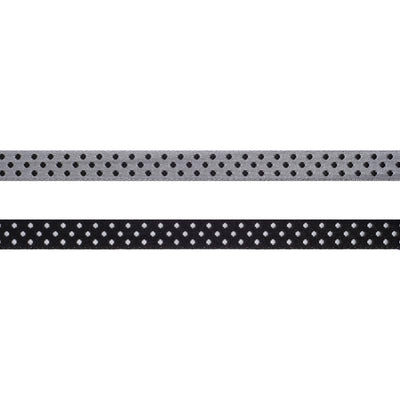 Black/Silver Reversible Dots - 3/8""