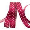 Wine/Pink Reversible Dots - 3/8""