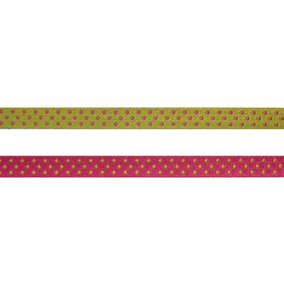 Hot Pink/Green Reversible Dots - 3/8""