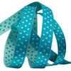 Turquoise/Blue Reversible Dots - 3/8""