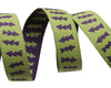 "Reversible Lime Green & Purple Arrows - 3/8"" -by the yard"