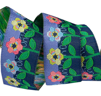 "Hexy Flowers - Sue Spargo - 7/8"" - by the yard"