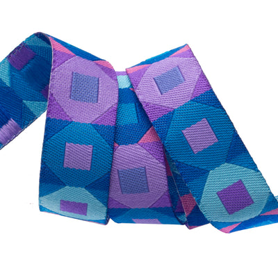 "Squares Blue & Purple - 5/8"" - Sue Spargo - by the yard"