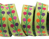 "Multi Dots on lime - Sue Spargo - 5/8"" -by the yard"